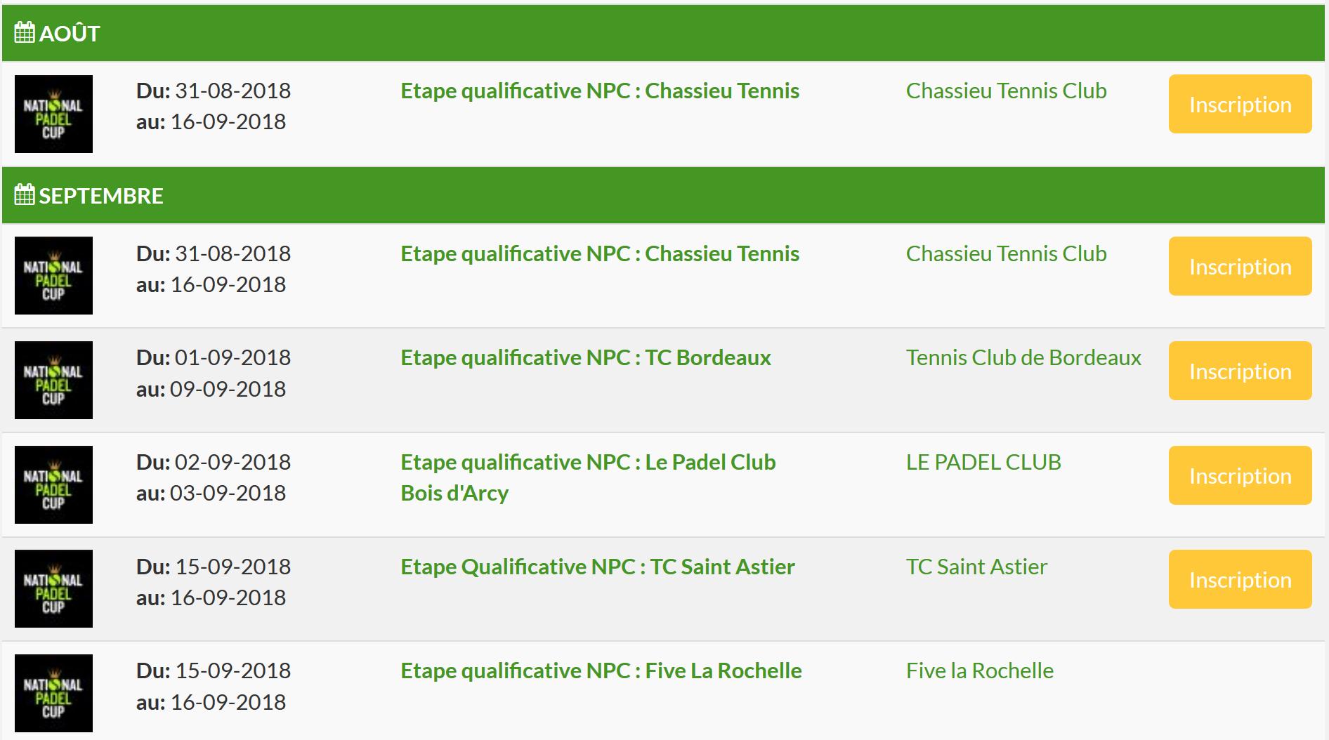 Tennis Chassieu, le TC Bordeaux et Le Padel Club : C'est reparti !