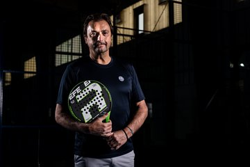 Henri Leconte à l'International Padel Exhibition – Liège 2019