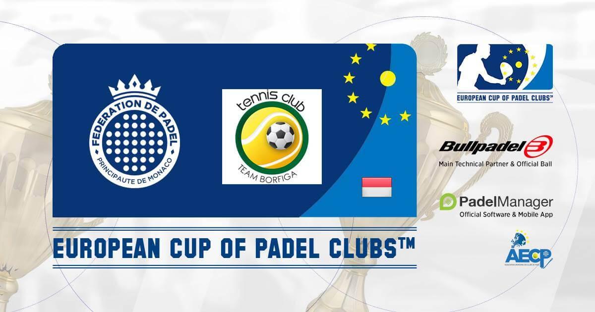 Euro Padel Puchar wita Le Padel Club d'Eze i Monegasque Federation
