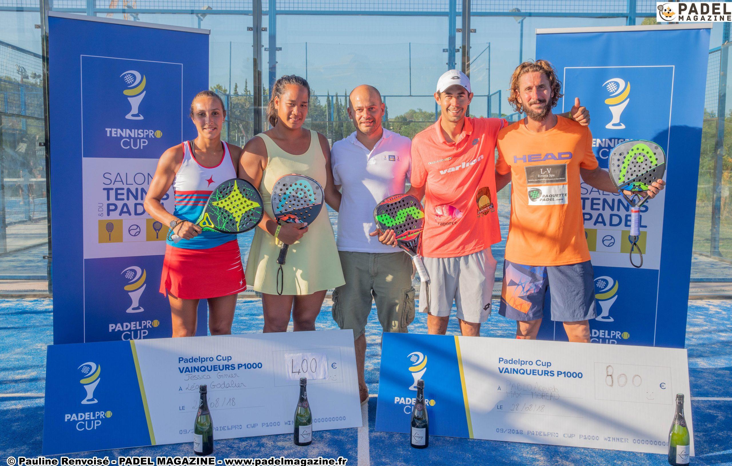 Ginier / Godallier et Moreau / Acevedo remportent la Padelpro Cup 2018