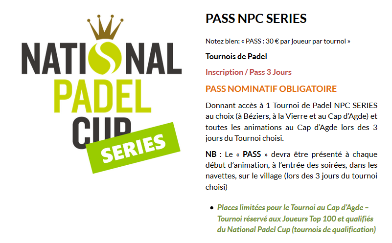 トップスタート:全国登録 Padel シリーズ-全国 Padel カップ