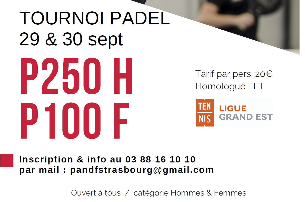 Padel and Foot Strasbourg - p250 H and p100 F