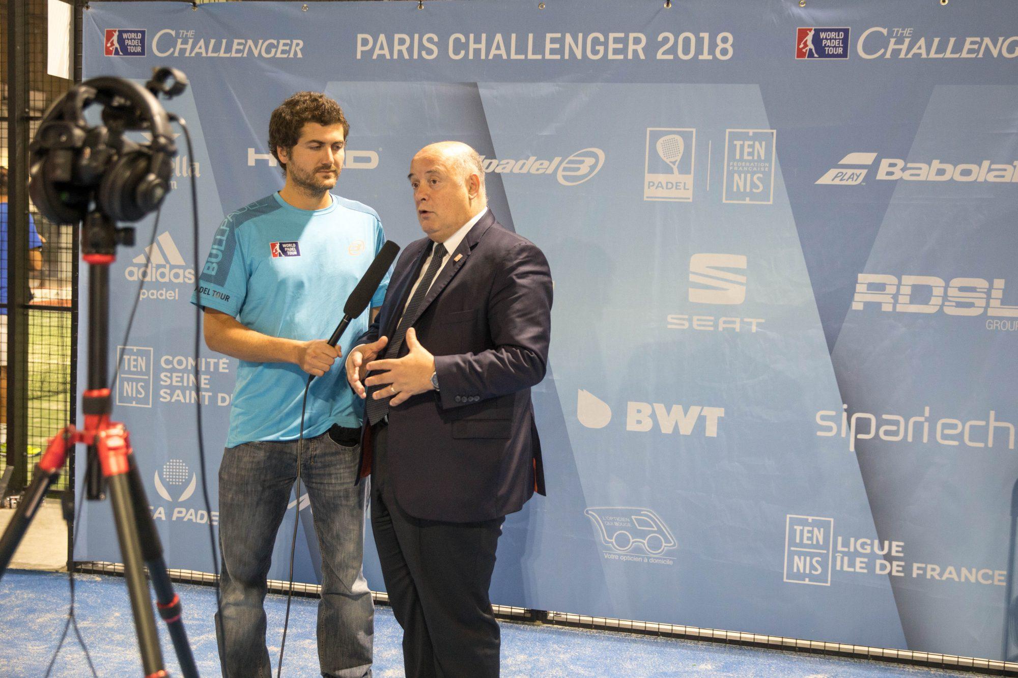 """Bernard Giudicelli : """"Le Challenger à Casa Padel est formidable pour le padel"""""""
