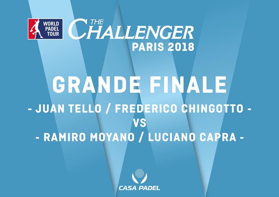 Affiche de rêve : Chingotto / Tello vs Moyano / Capra – Paris Challenger 2018 – Casa Padel