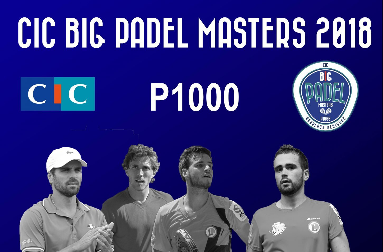 Direction le CIC Big Padel Masters 2018