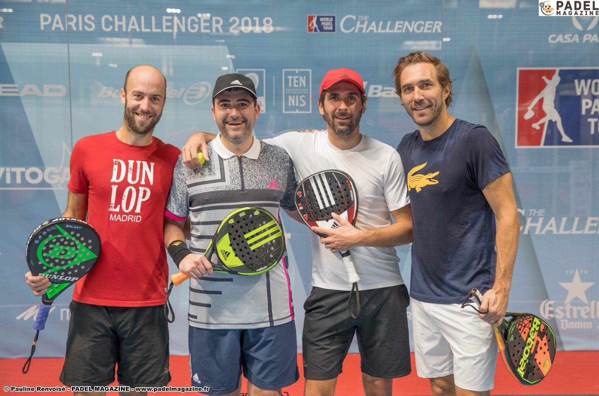 Programme des 1/4 – Paris Challenger 2018 – Casa Padel
