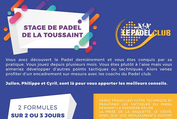 Stage de padel au Padel Club de Bois d'Arcy