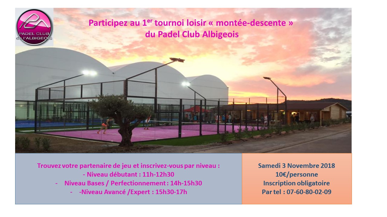 Premier Tournoi loisir pour le Padel Club Albigeois