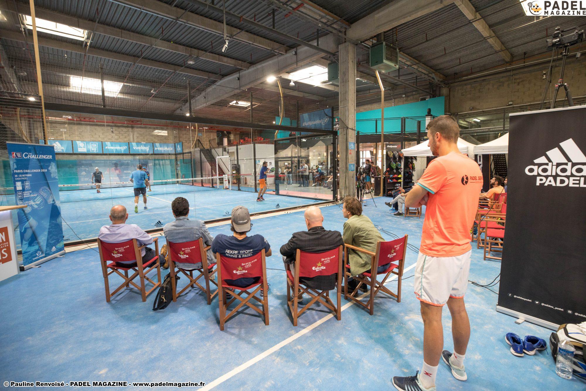 Programme de la journée au Paris Challenger 2018 – Casa Padel