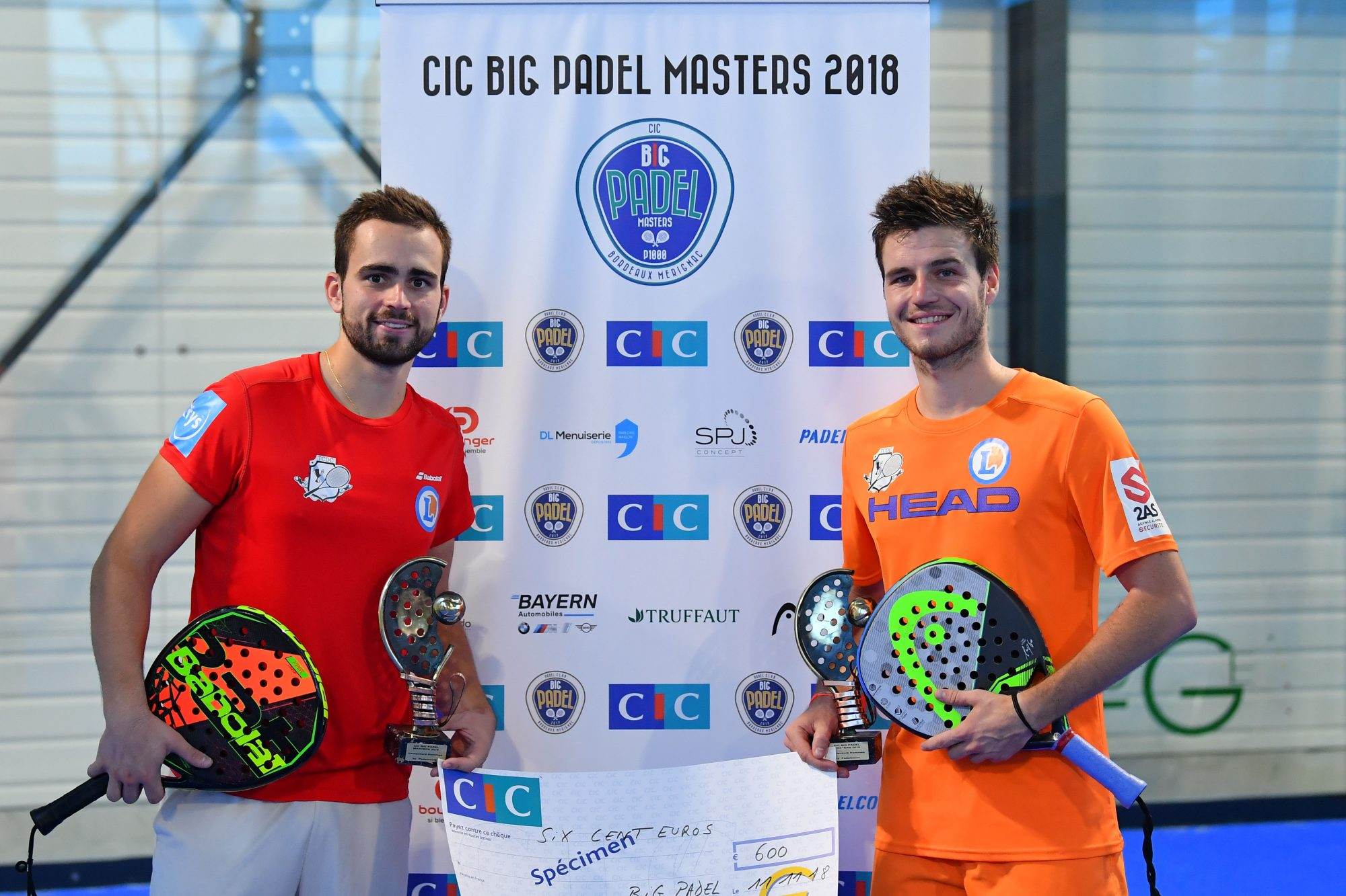 L'attraction Dipasquale / Clément au Big Padel Bordeaux