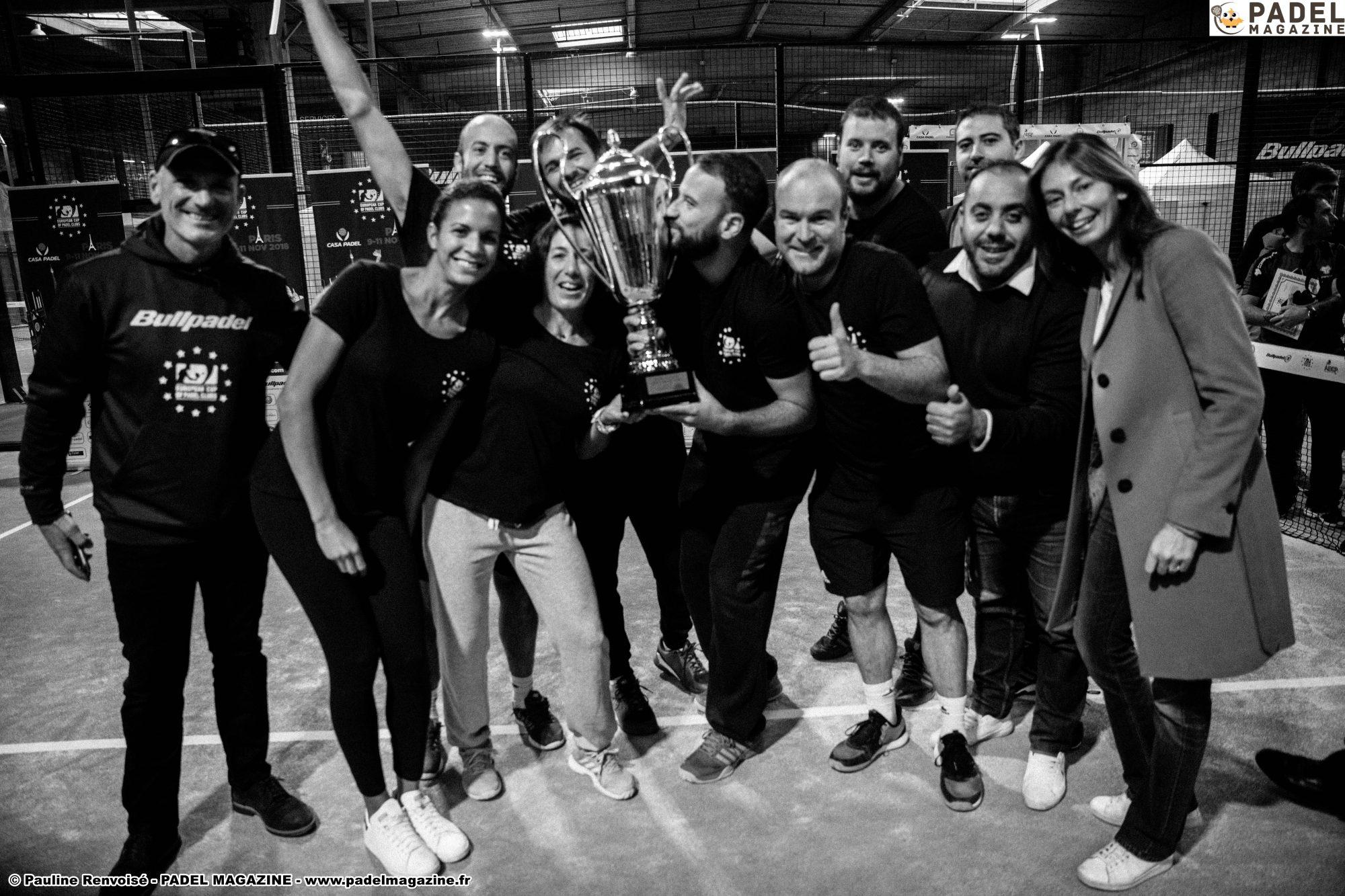 Casa Padel / Padel France Distribution remporte l'Euro Padel Cup 2018