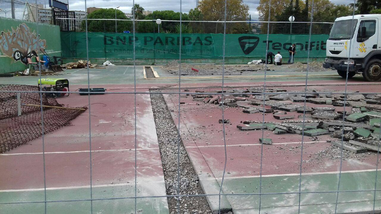 The NICE Mercantour Sports Complex starts padel