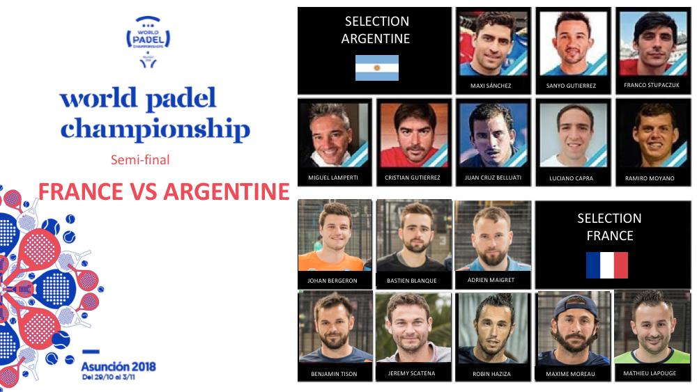 1/2 finale – France vs Argentine – Mondial Padel