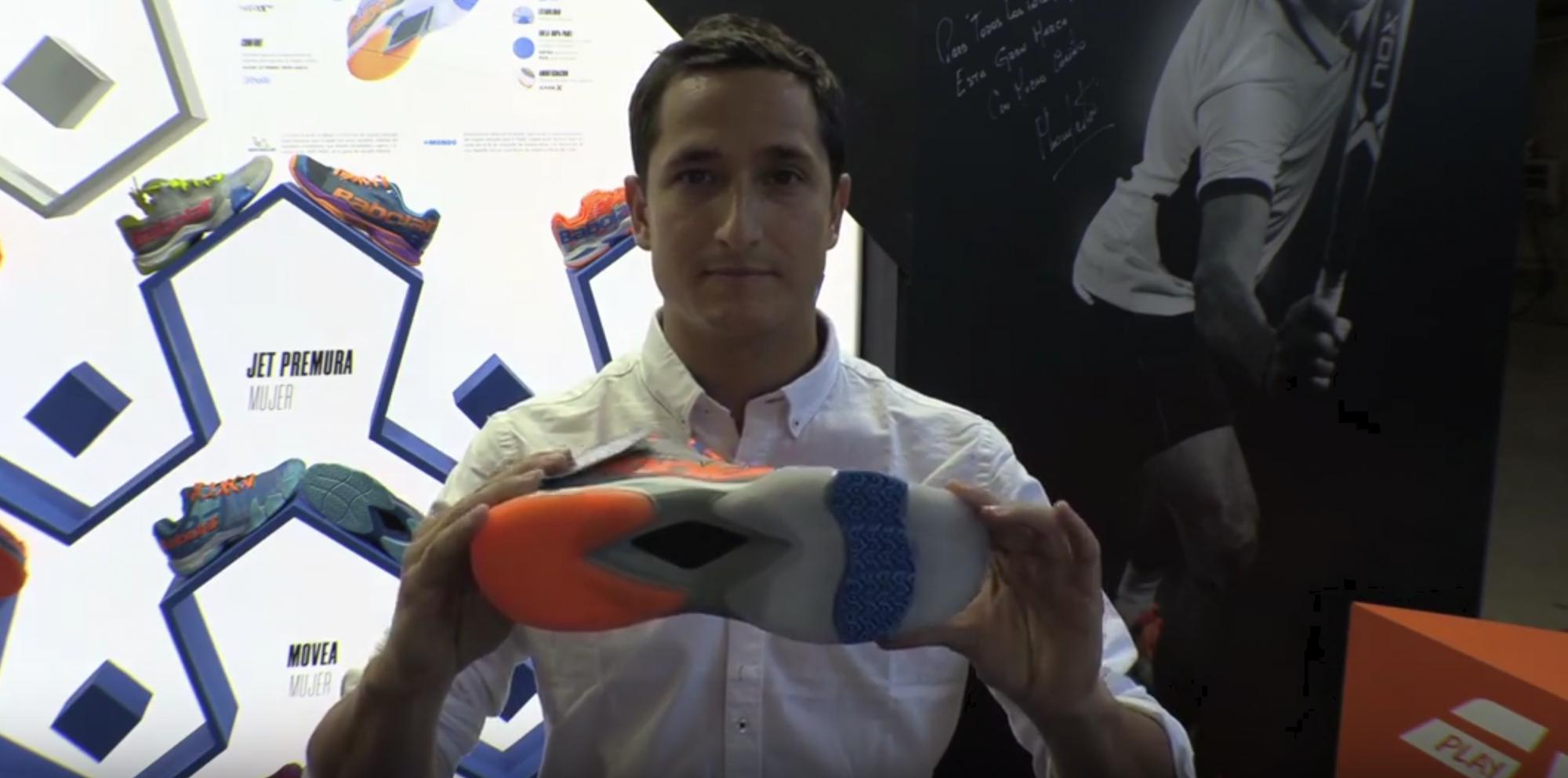 Mateo Castro : Les chaussures de padel Babolat 2019