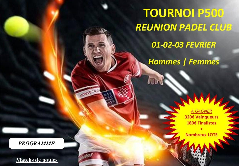 Réunion Padel Club propose son P500 en février