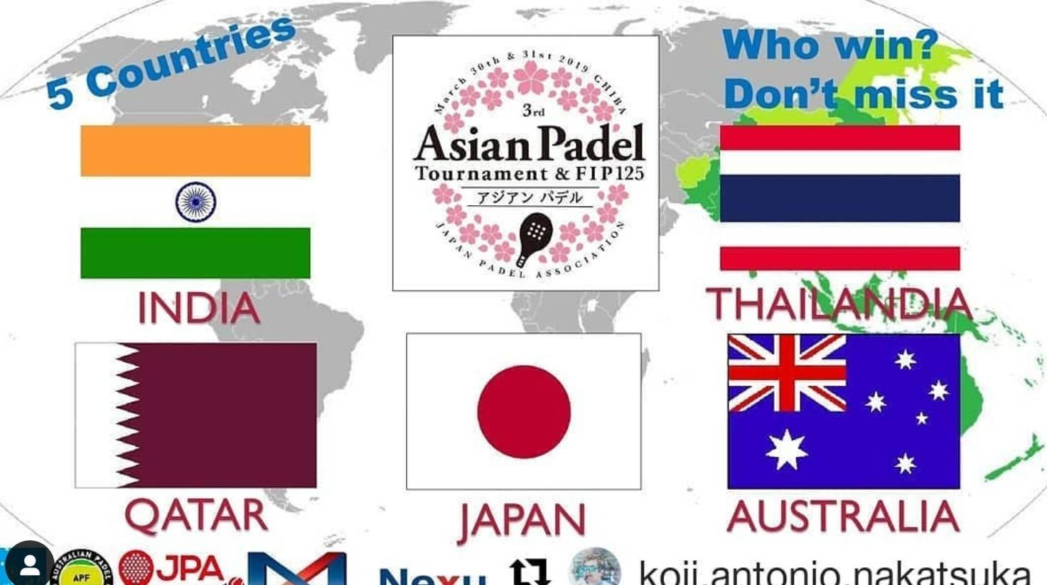 Asiatiskt Padel Cup är för helgen