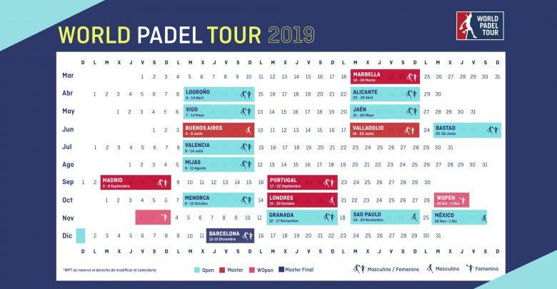 Calendario World Padel Tour.Calendrier Du World Padel Tour 2019 Tres International