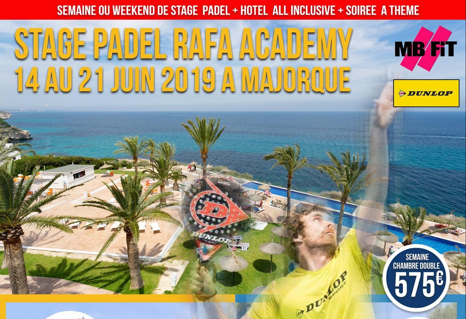 Stage de padel à Majorque : all inclusive du 14 au 21 juin.