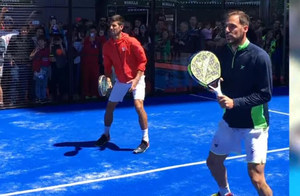 Djokovic au padel !