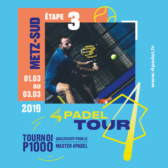 Le 4PADEL Tour de Metz débute samedi