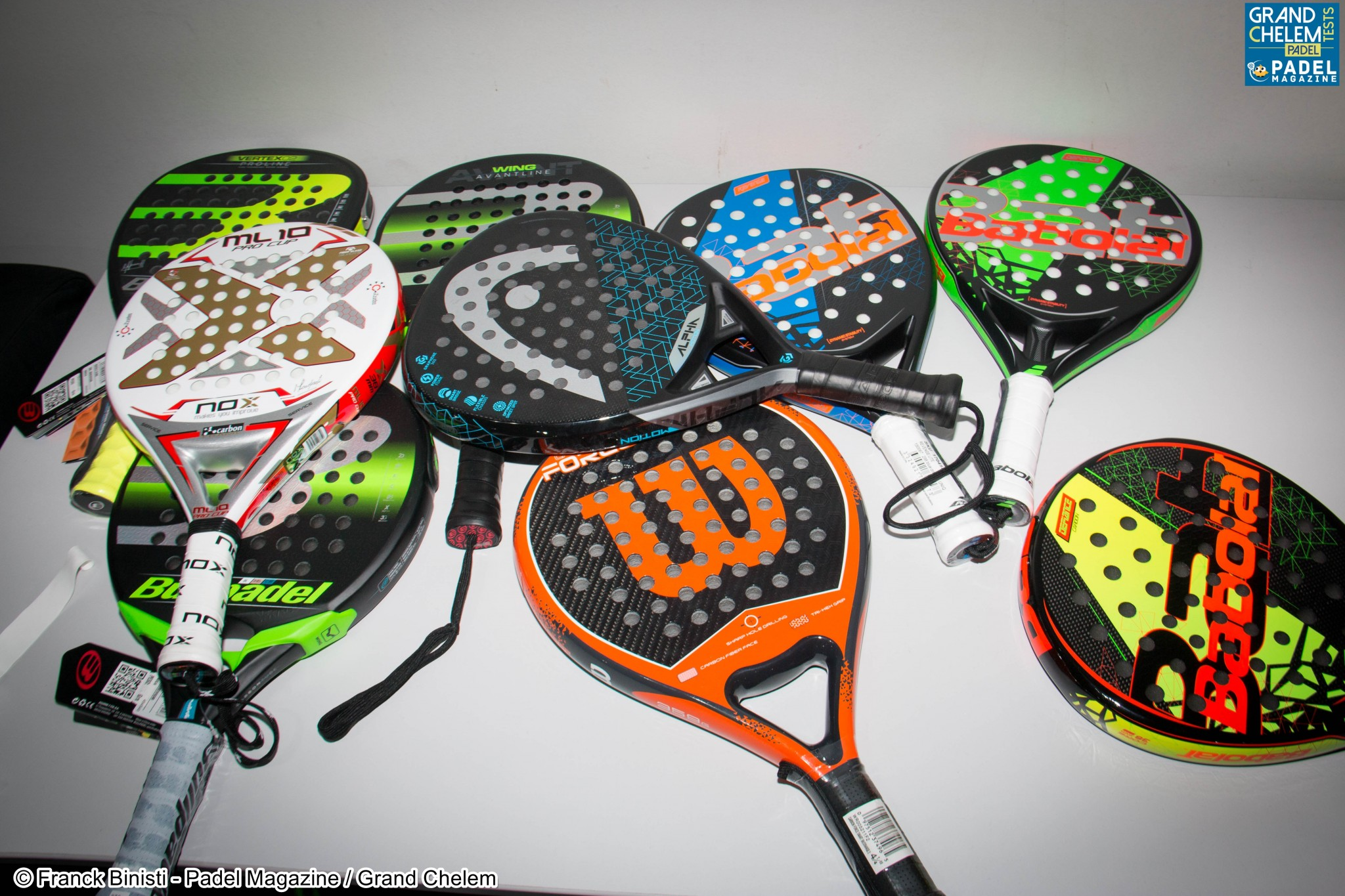 Comparison of powerful rackets