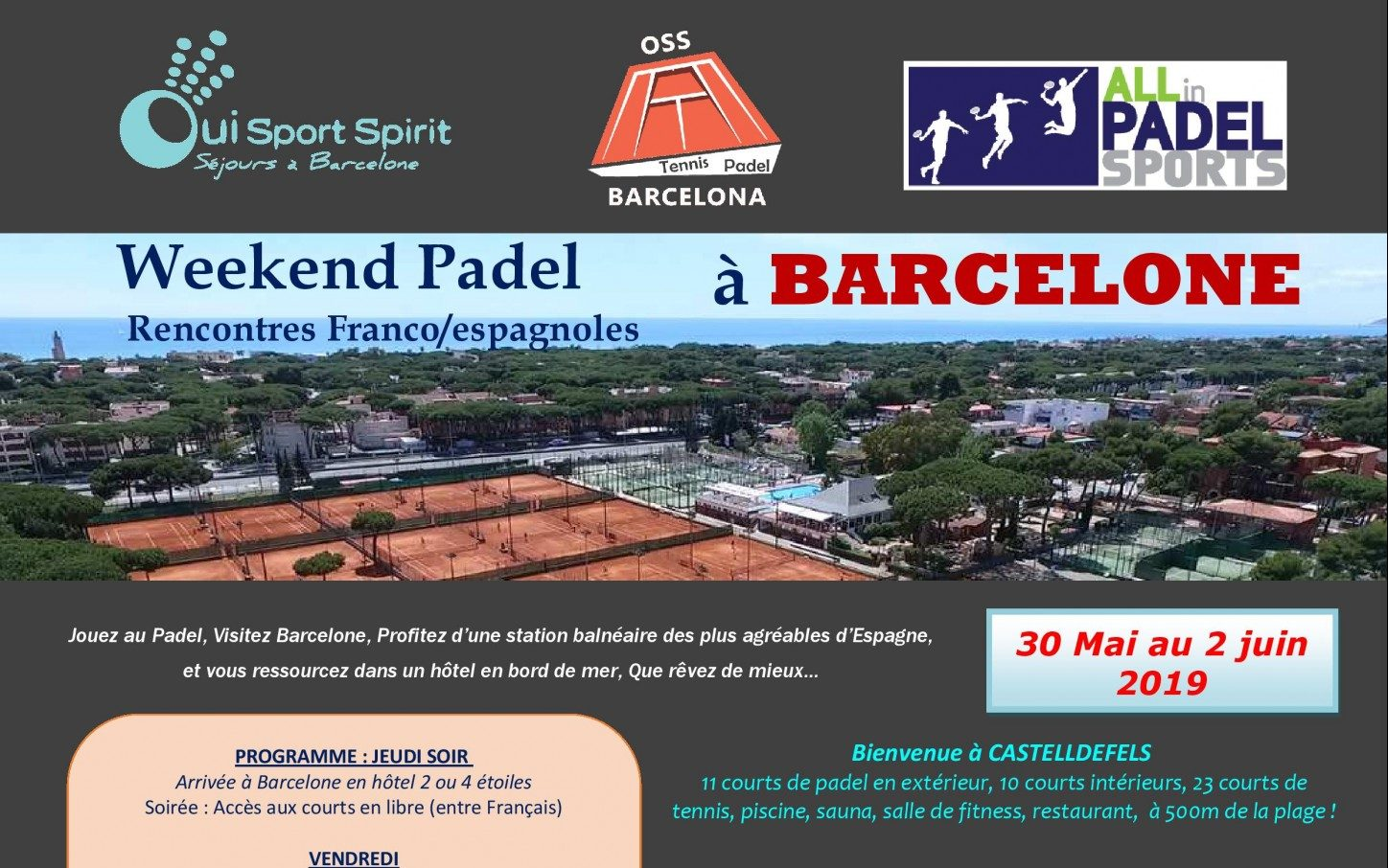 Stage Padel intensif by OSS Barcelone et All In Padel