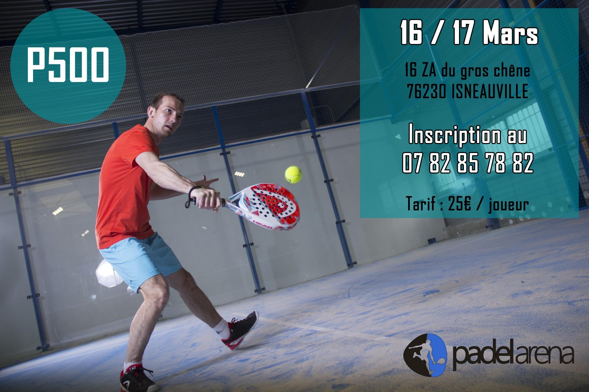 Open Padel Arena – P500 – 16 et 17 mars