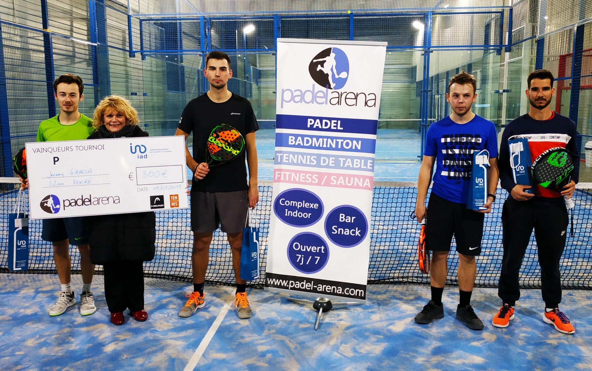 Garcia / Fouré remporte l'Open IAD Padel Arena