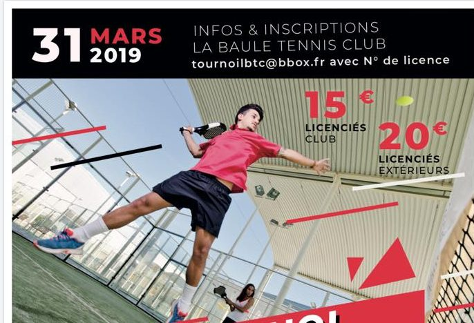 Baule Tennis Club : Tournoi Padel Mixte