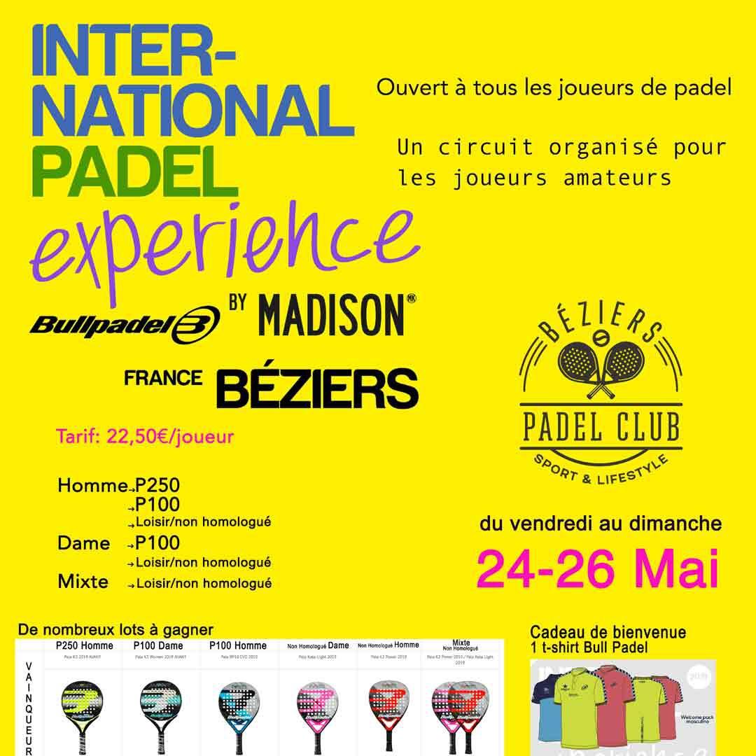 na świecie Padel Doświadczenie ląduje w Béziers