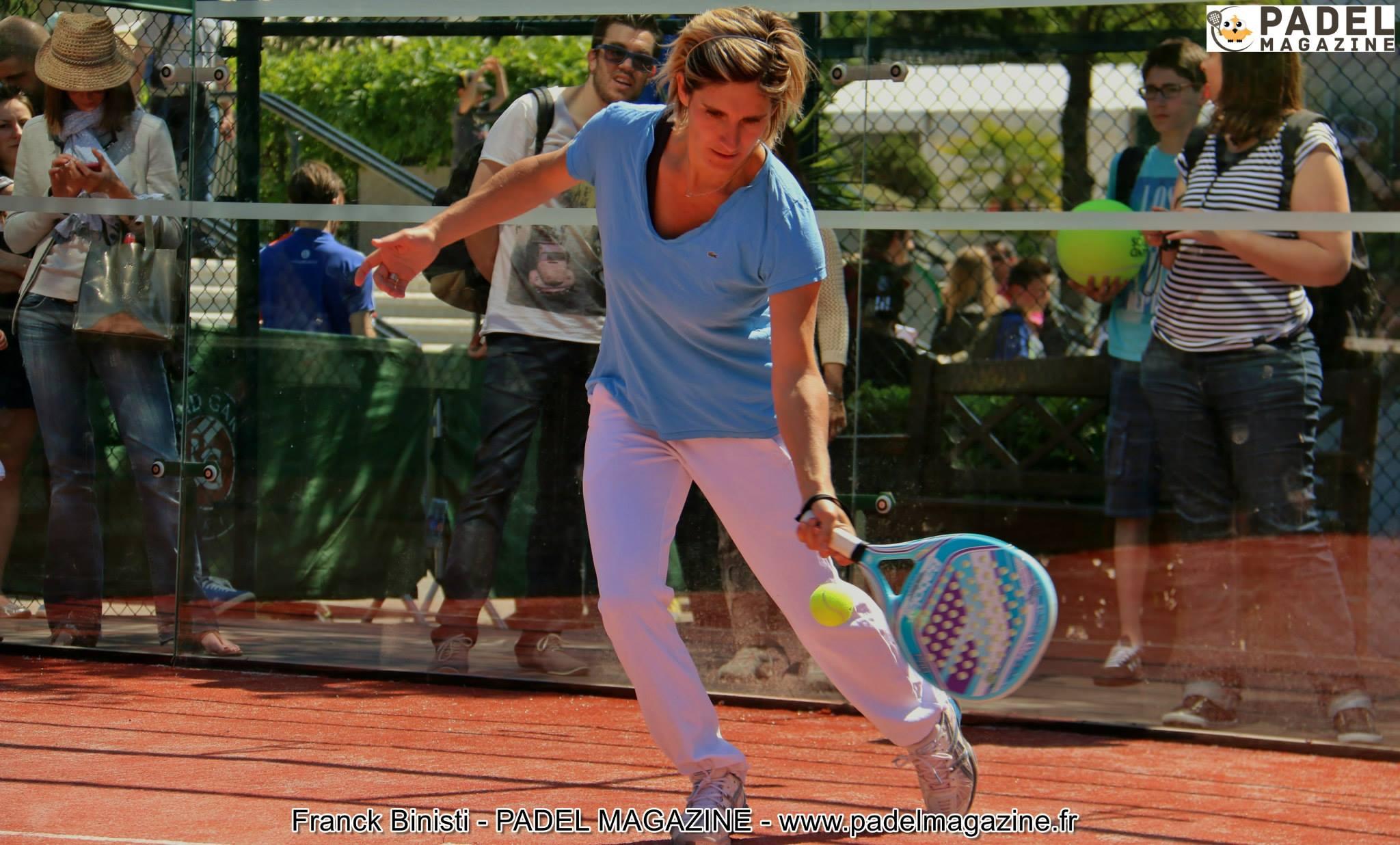 emilie loit padel Roland Garros