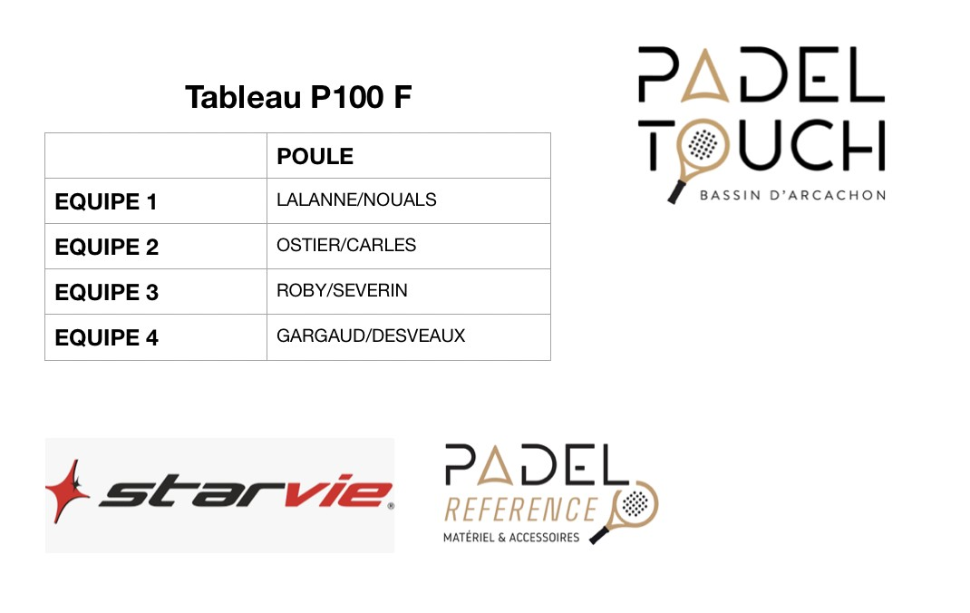 Tournoi d'inauguration Padel Touch