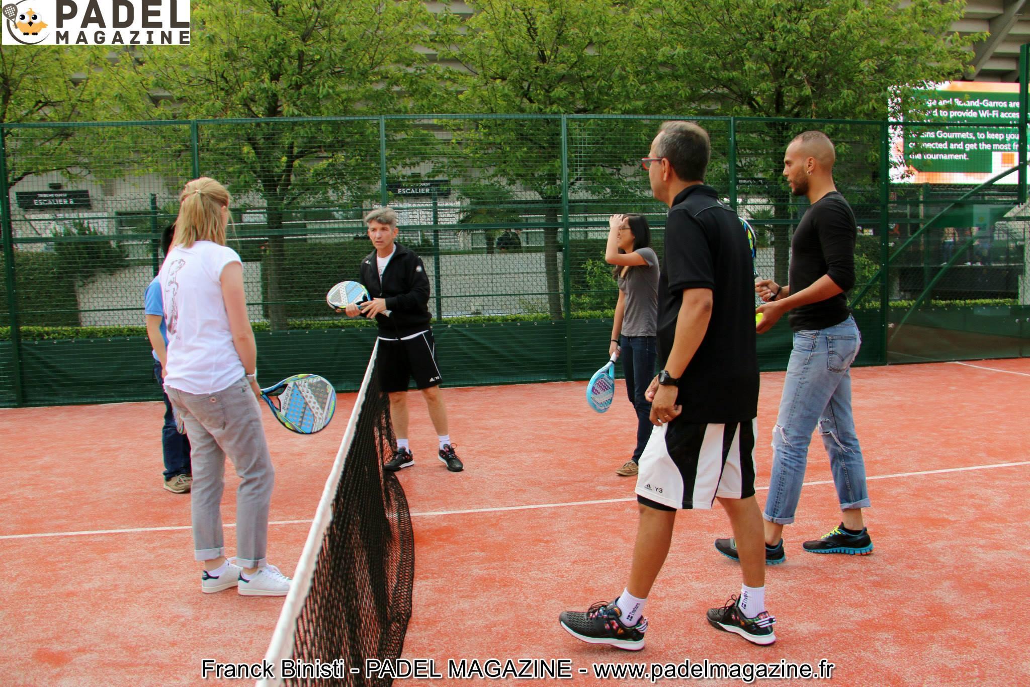 prof padel Roland Garros