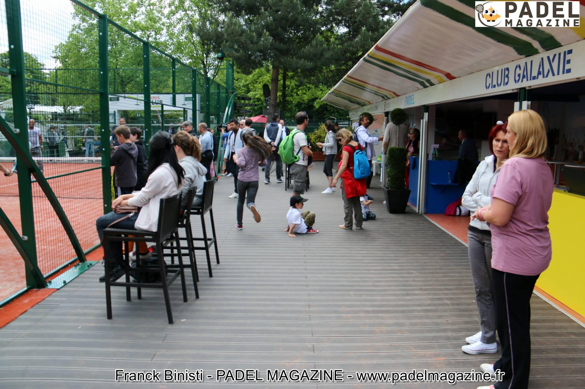 Souvenir du padel à Roland Garros en 2015