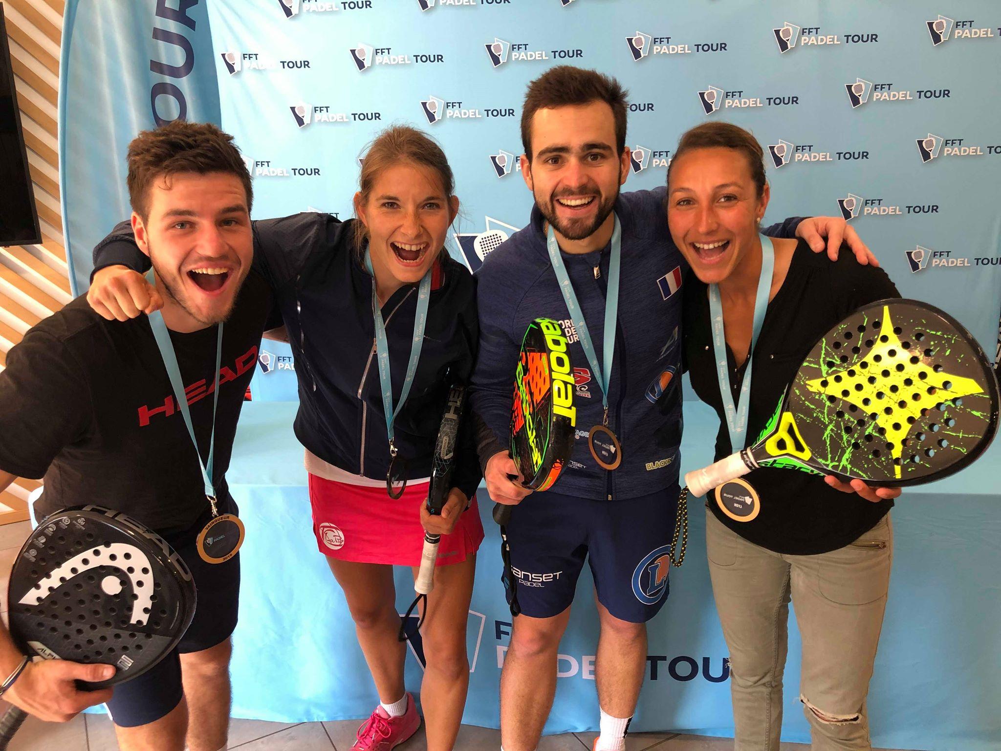 3 Lyoner Gewinner in der FFT PADEL LYON-TURM