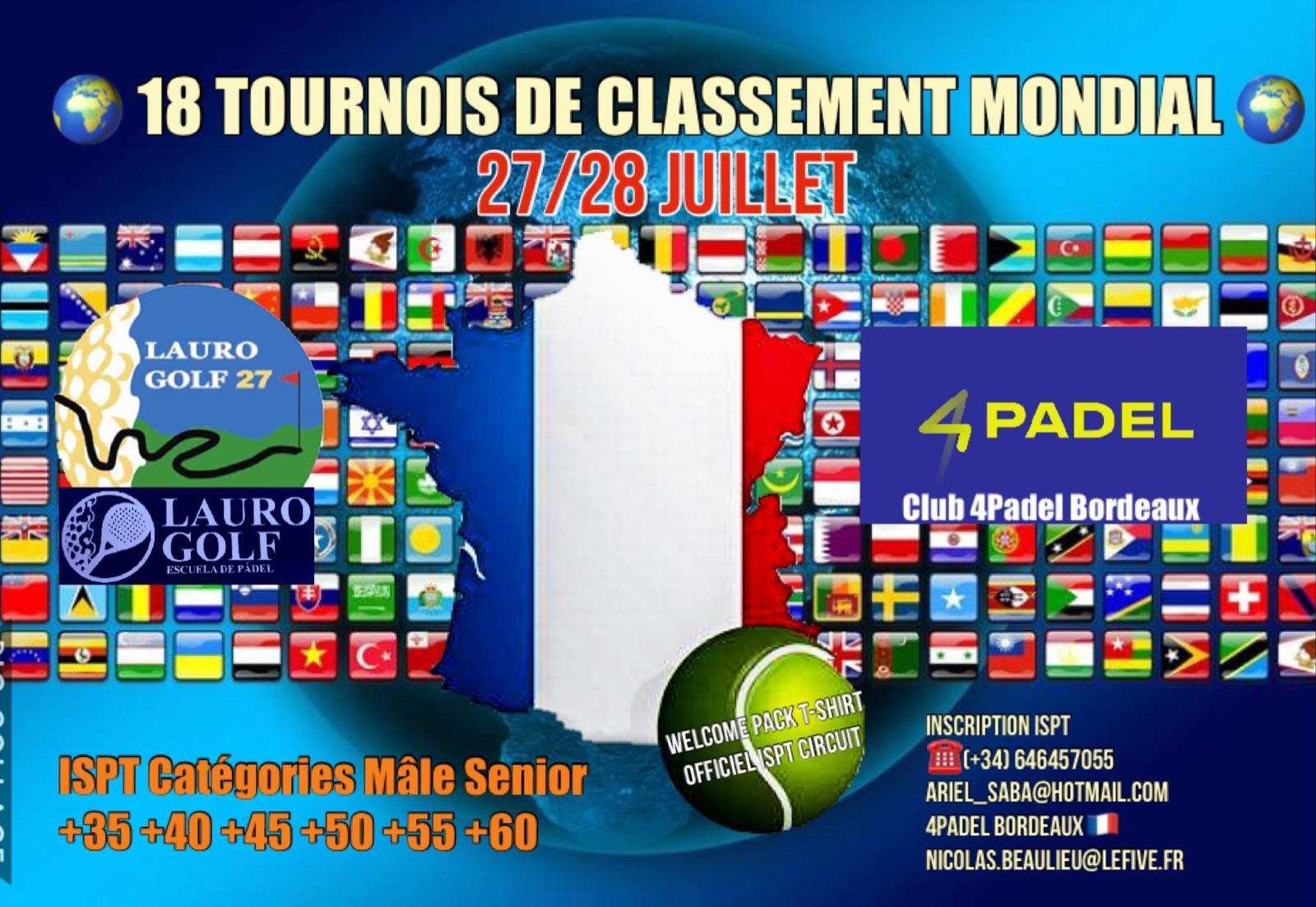 L'International Senior Padel Tour au 4PADEL Bordeaux