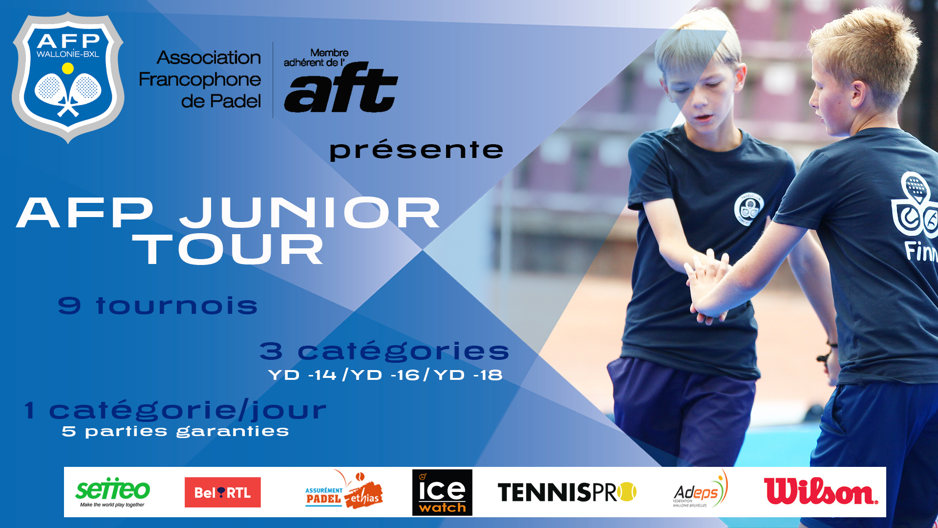 AFP Junior Tour : inscrivez les jeunes en tournoi !