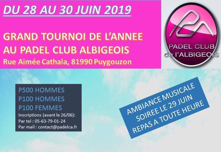 Padel Club d'Albi – 29 et 30 juin