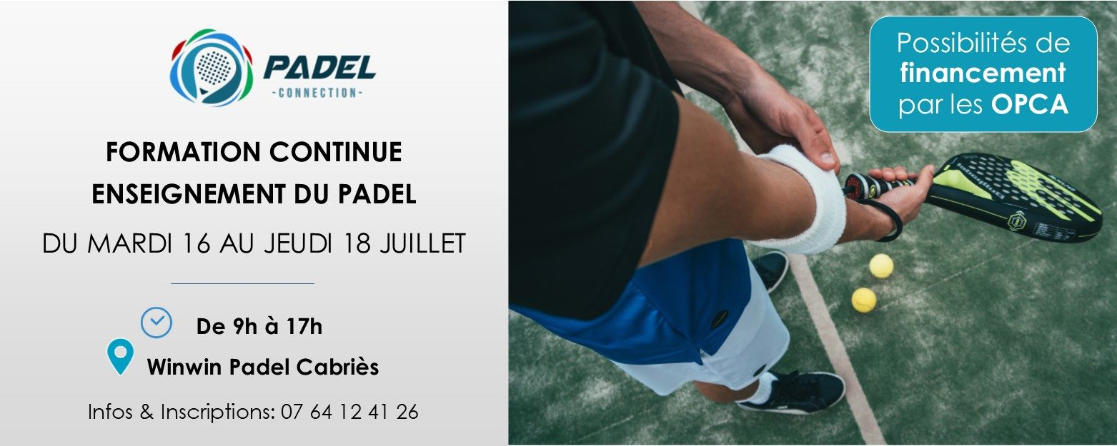 Formation Padel – Padel Connection – WinWin Padel Cabriès