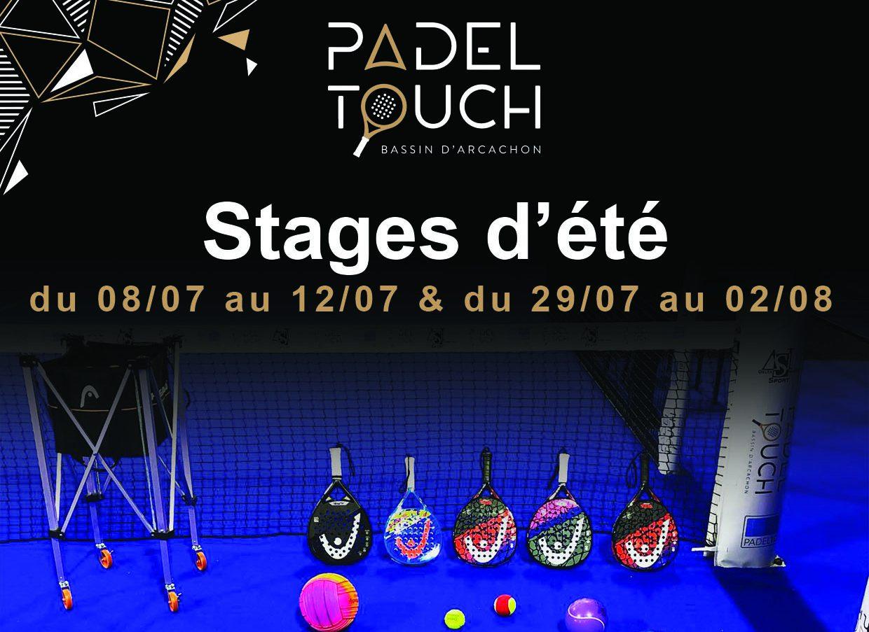 Stage de padel – Padel Touch – Arcachon – Juillet 2019