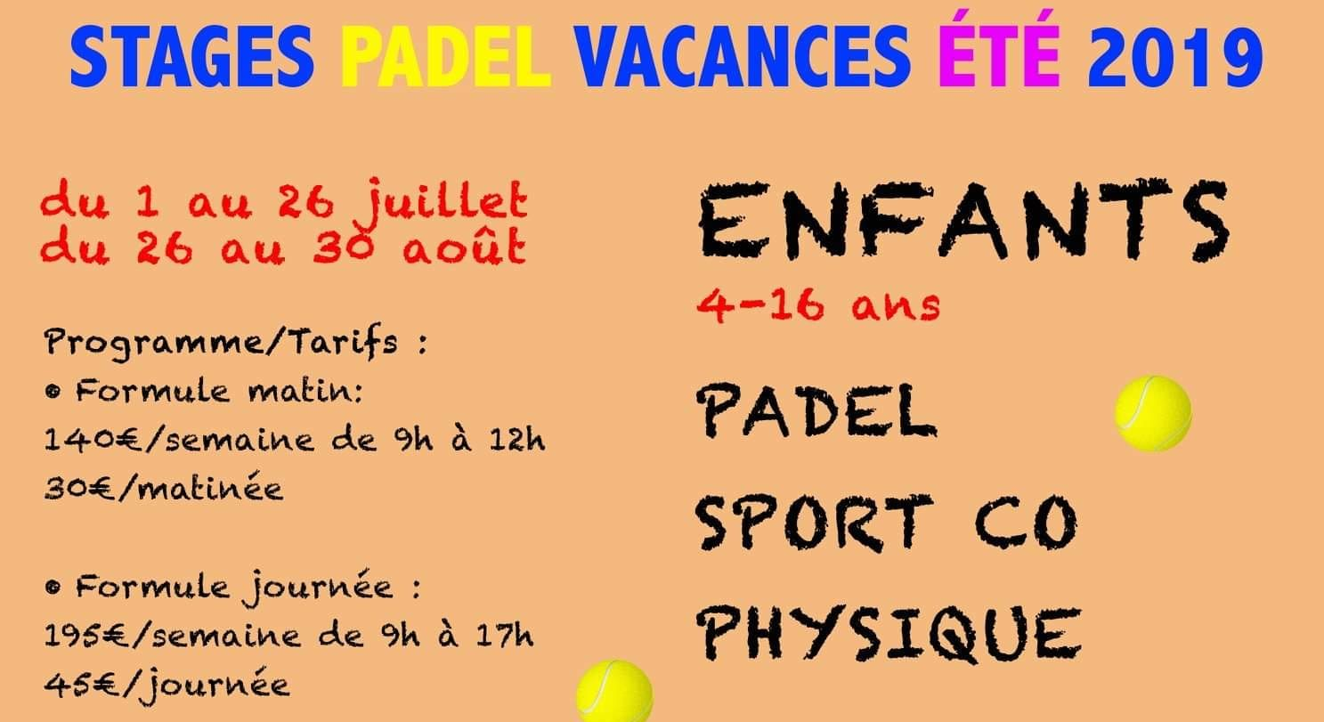 Stages de padel – Ecully