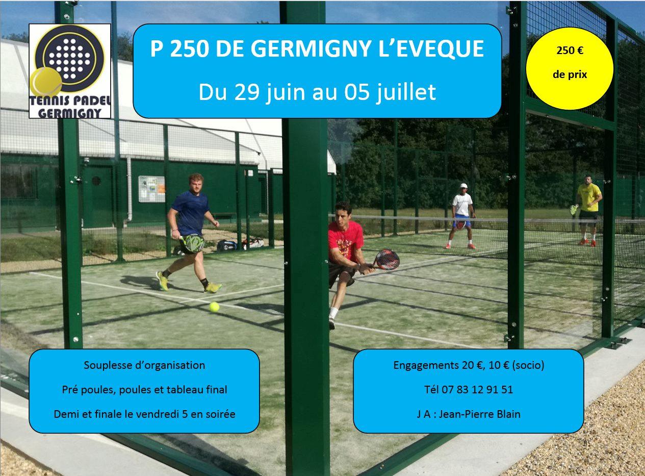Torneo - Padel de Germigny - dal 29 giugno al 5 luglio