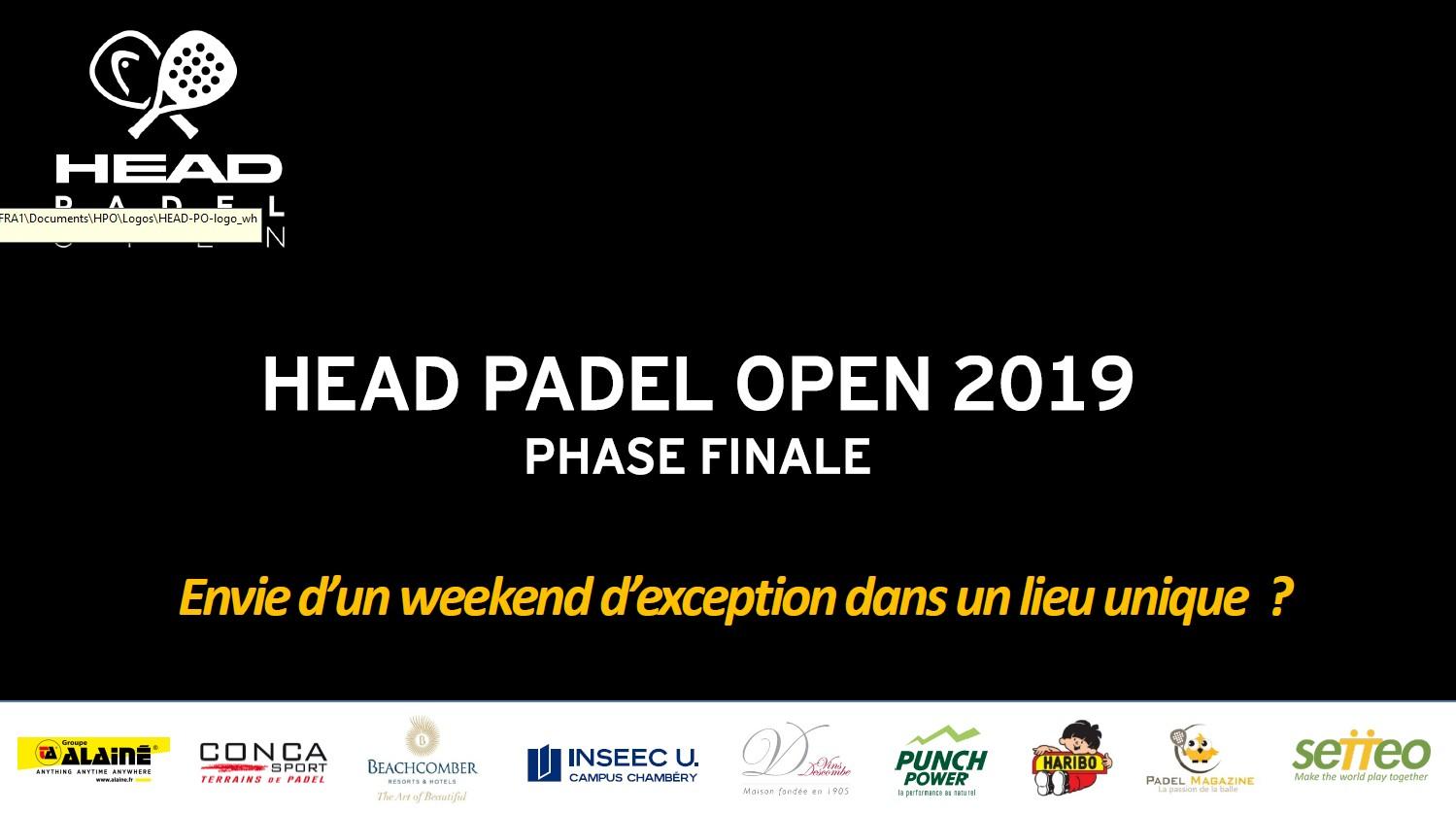 P250 - Head Padel Open 2019 - Tabelle e avvisi