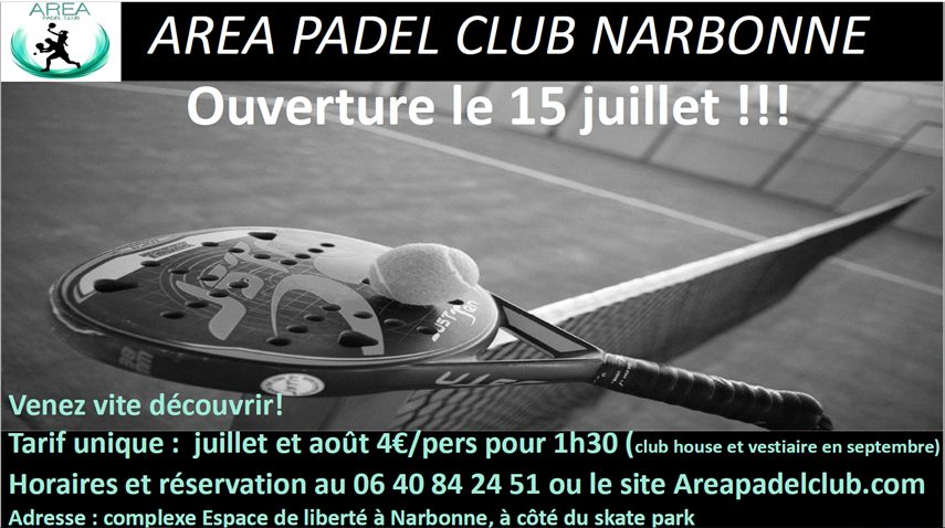 Agents Padel Club Narbonne - Opening July 15