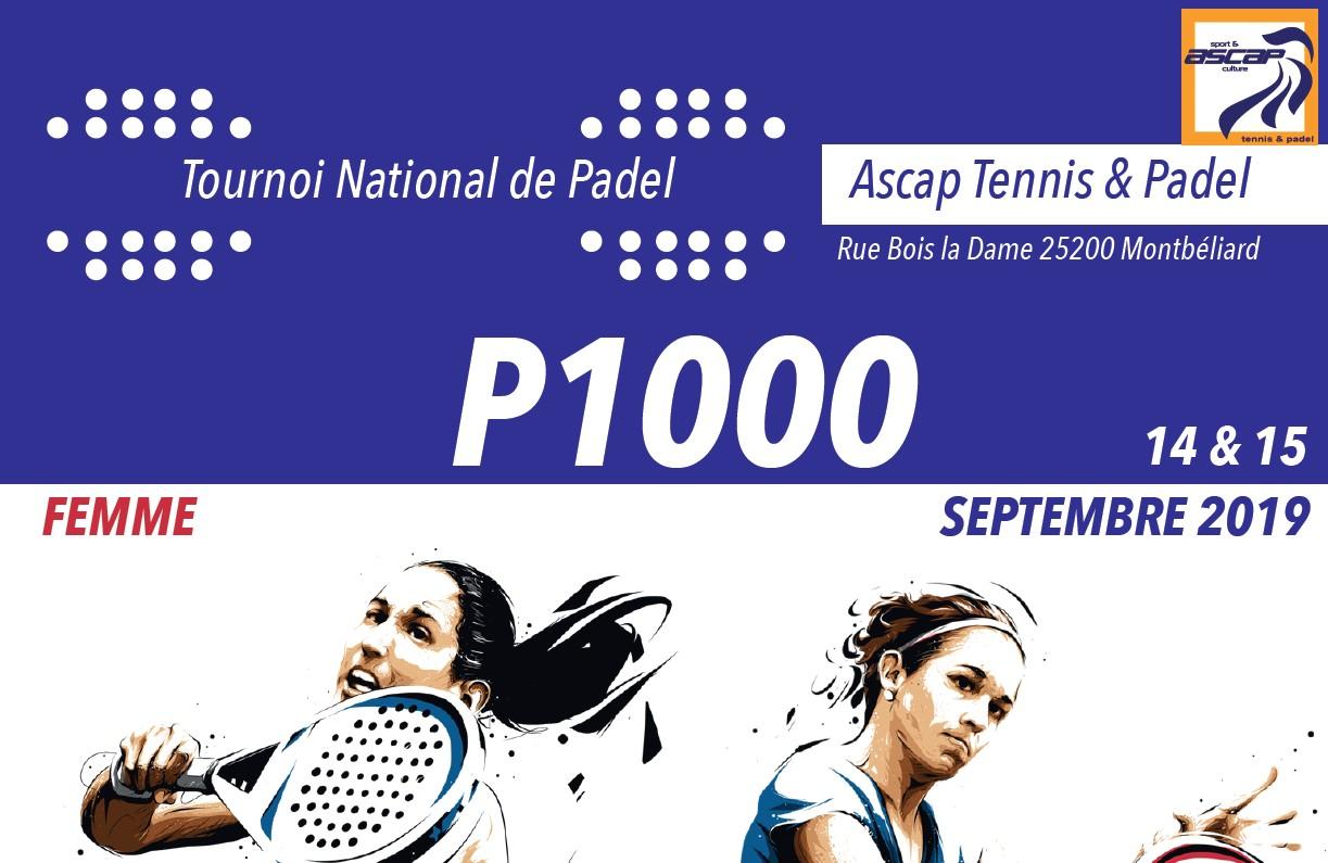 ASCAP Montbéliard – 1er P1000 dames – 14 au 15 septembre