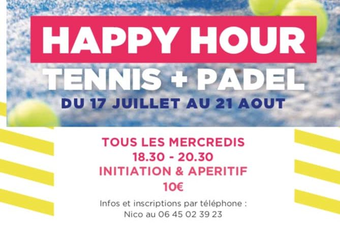 Tennis, padel, happy hour cet été avec la French Touch Academy