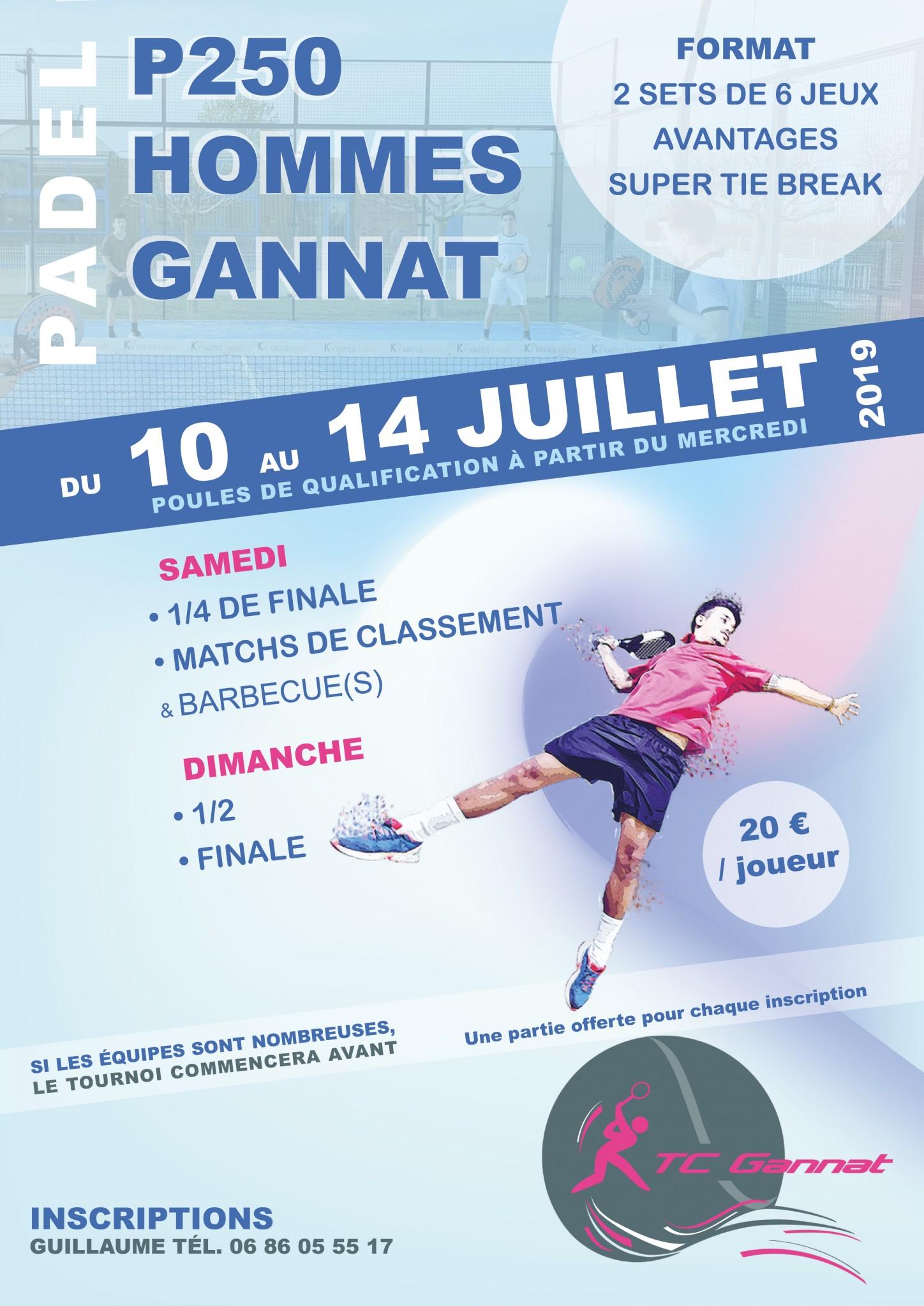 Gannat en mode P250 – 10 au 14 juillet