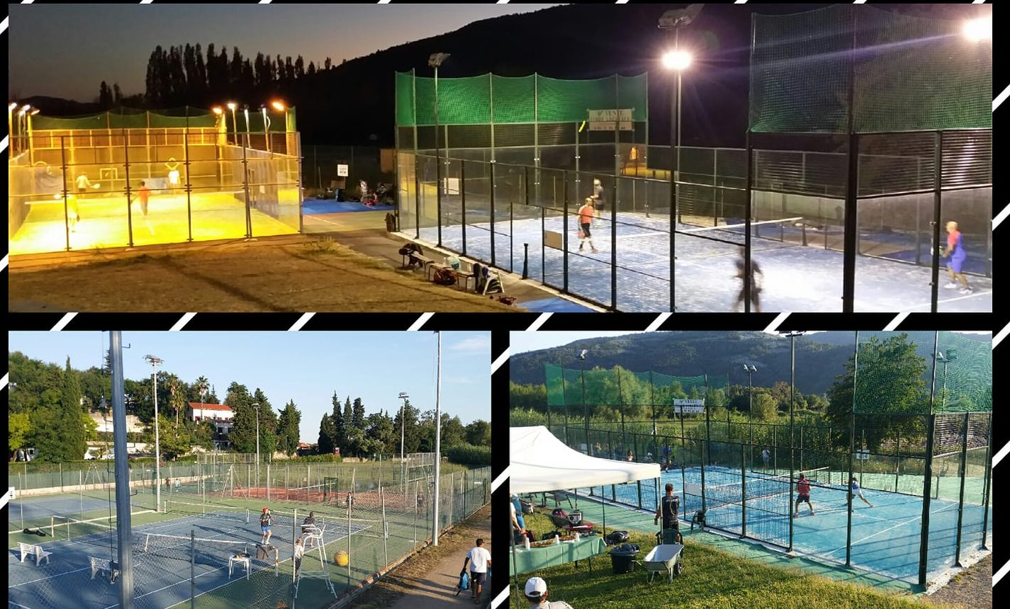 Parte inferiore della morte all'Open Padel Roquettan