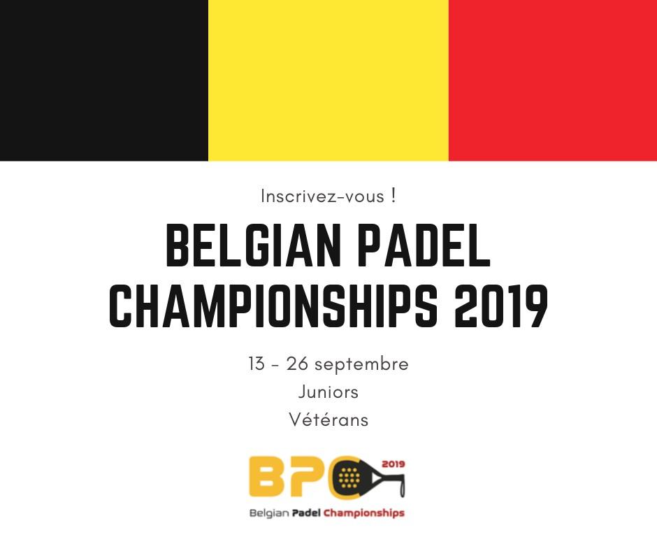Belgian Padel Championships 2019 – Agenda