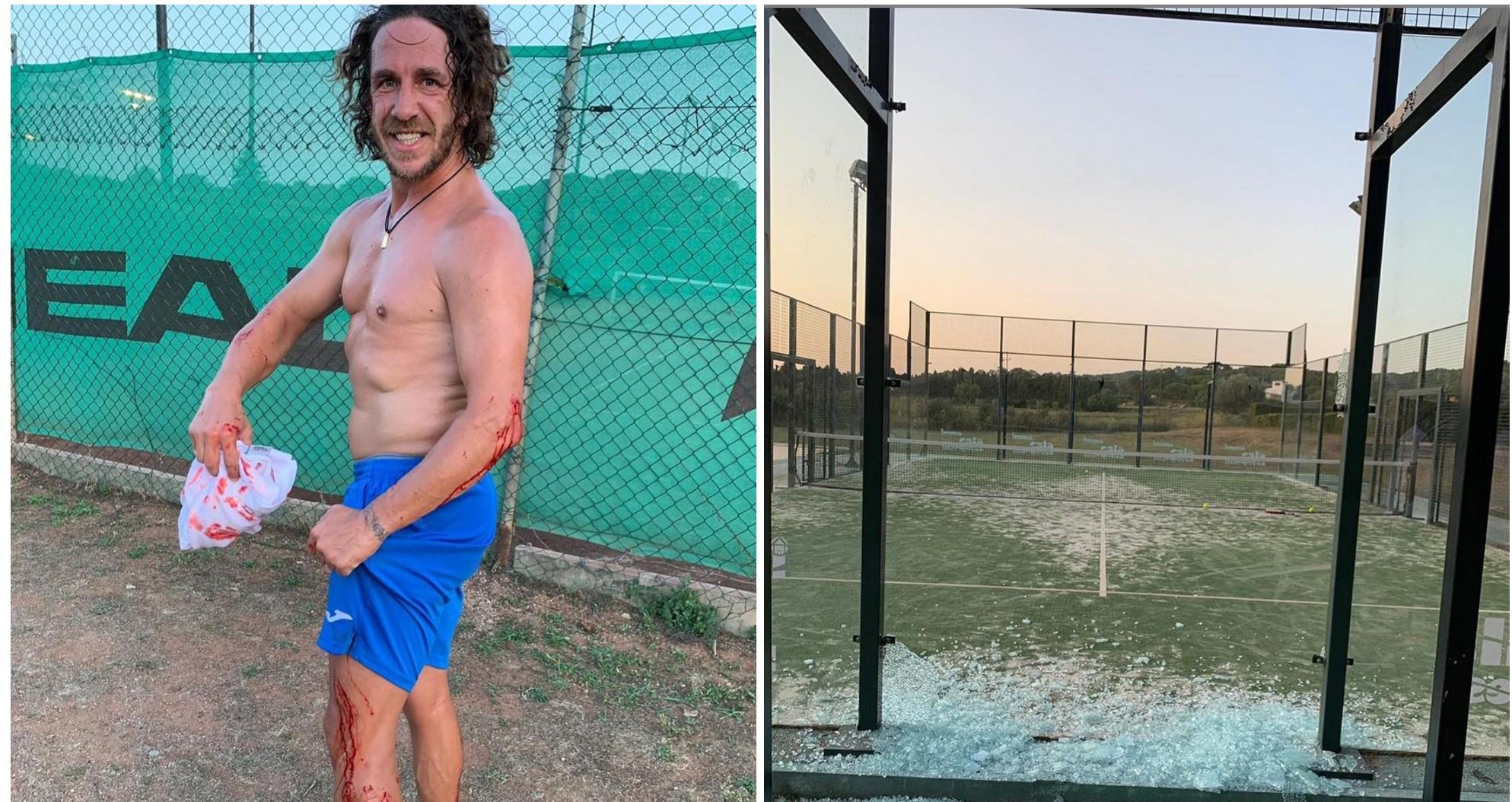 Puyol ferito ... da un campo di padel !